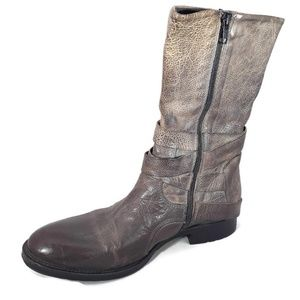 VERA WANG Lavender Kip Strappy Leather Boot 6.5M